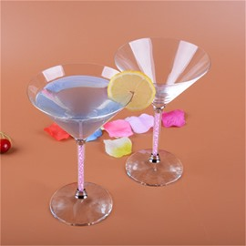 Creative and Modern High Grade Mixing Glasses with Diamond and Crystal Cocktail Cups