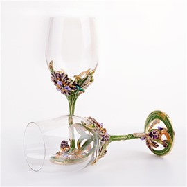 Creative and Modern High Quality Crystal Enamel Red Wine Glasses