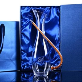 Elegant and Modern Style High Shape Crystal Wine Decanter