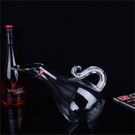 Elegant and Creative Style Swan Shape Crystal Wine Decanter
