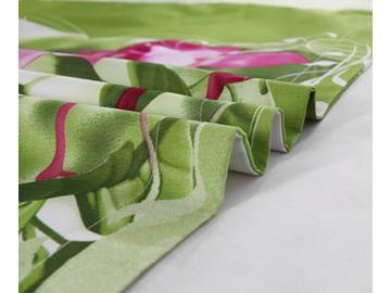 3D Pink Fuchsia Printed Cotton 4-Piece Bedding Sets/Duvet Covers