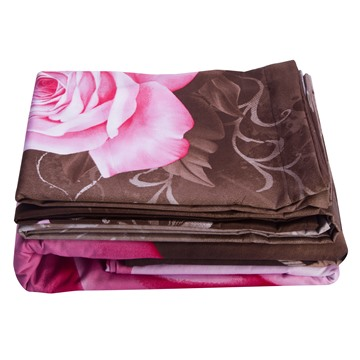 Blooming Pink Roses Cotton Luxury 4-Piece Bedding Sets/Duvet Cover