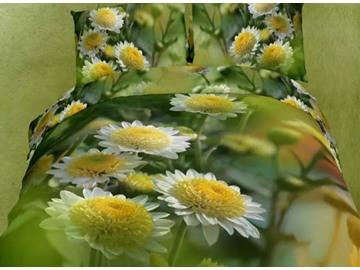 Tender Daisy Print 4-Piece Cotton Duvet Cover Sets