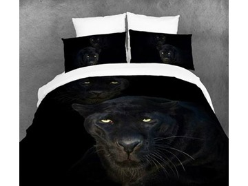 August Black Panther Print 4 Piece Bedding Sets/Duvet Duvet Cover Sets