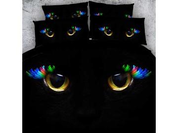 Astonishing Cat Eyes Print 4-Piece Duvet Cover Sets