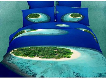 Amazing Tropical Islands  beach 4 Piece Bedding Sets/Comforter Sets