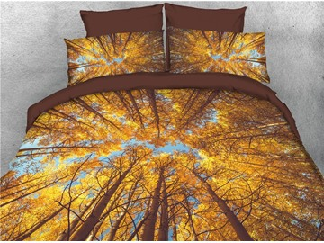 Sublime Forest and Tree Stereo Effect 3D Printed 4-Piece 3D Bedding Sets/Duvet Covers
