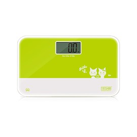 Adorable Cat Image Tempered Glass Weight Scale