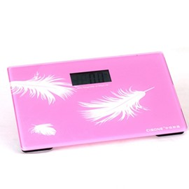 Graceful Unique Feather Print Digital Weight Scale