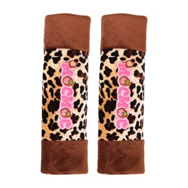 Sexy Mousse Girl Leopard Car Seat Belt Cover