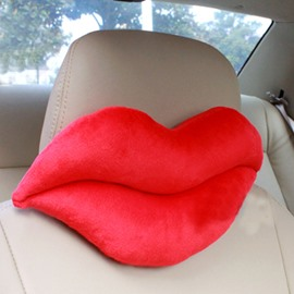 The Sexy Red Lip Plush Car Neckrest Pillow