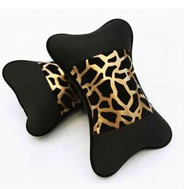 Environmental Highly Elastic Leopard Printing One Pair Car Pillows