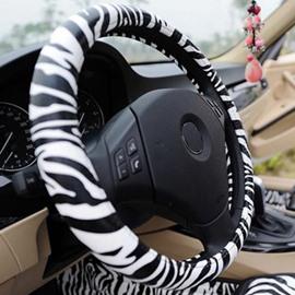 Super Popular Zebra Pattern Steering Wheel Cover