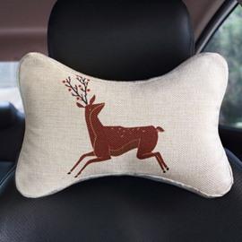 Creative Abstract Reindeer Patterned Car Neckrest Pillow