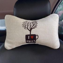 Concise Environmenal Friendly Patterned Car Neckrest Pillow