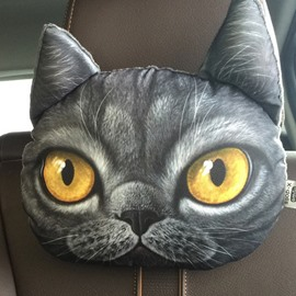 Personalized Shocked Kitten Face Car Seat Pillows