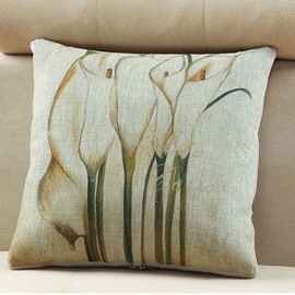 Comfortable Quillow Lily Patterned Linen Blanket Car Pillow
