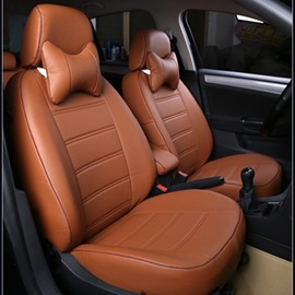 Classic And Concise Designed Pure Color PU Leatherette Material Custom Fit Seat Cover