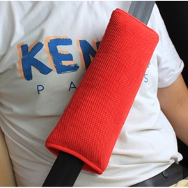 Extra Soft and Durable Single Colored Car Seat Belt Cover
