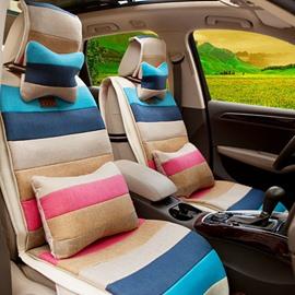 Fashionable Ventilate Dual Colored Five Seats Car Seat Cover