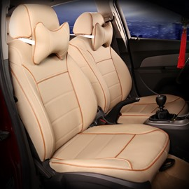 Simple Beige Style Classic Universal Car Seat Cover