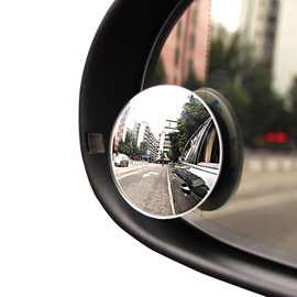 Glass Material And HD Small Round Rearview Mirror