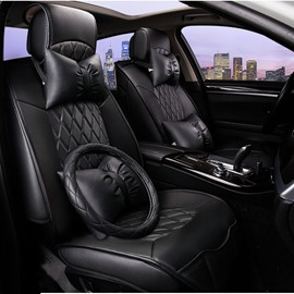 Luxurious And Classic Leather Material Universal Car Seat Cover