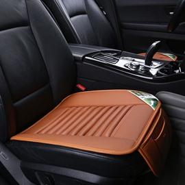 Popular Corrugated Design PU Leather Material Five Car Seat Mat Set