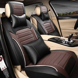 Luxurious Popular Fashional Design Leather Material Five Universal Car Seat Cover