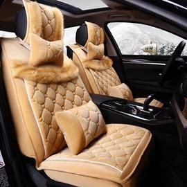 Super Comfortable Soft Velvet Material Universal Five Seven Car Seat Cover