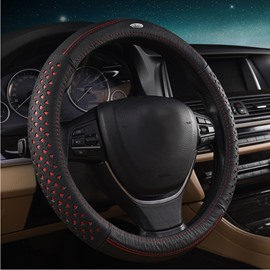 Cool Mesh Design Style Leather Material Car Steering Wheel Cover