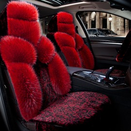 Fascinating Red Plush Material Winter Warm Pretty Popular Universal Car Seat Cover