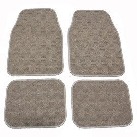 Comfortable Velvet Material Easy Clean 4-Peices Universal Car Carpet