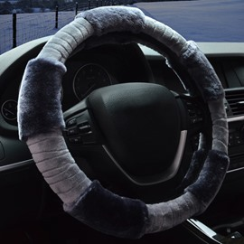 New Winter Hot Popular Keep Warm Comfortable Plush Car Steering Wheel Cover