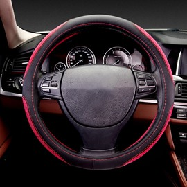 Smooth Bright Lines Decorate Side Enhance Friction Sport Charming Car Steering Wheel Cover