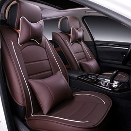 Beautiful Solid Color Anti-Dust And Heat Wear PVC Leather Universal Car Seat Cover