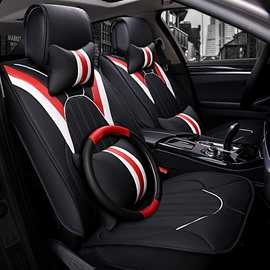 Luxury Textured Not Fade And Durable PVC Leather Material Universal Car Seat Cover
