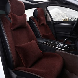 Attractive Solid Color High-Grade Textured Plush Warm Universal Car Seat Cover
