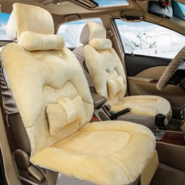 3D Stereoscopic Vision Design Cozy Winter And Autumn Warm Plush Universal Car Seat Cover