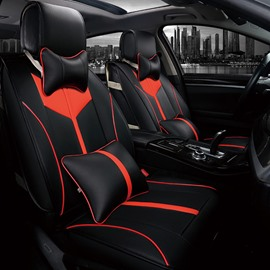Super Good Symmetry Effect With Durable Leather Material Universal Car Seat Cover