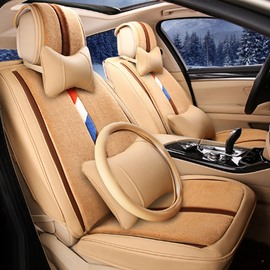 Super Textured Winter Warm Plush Material Cost-Effective Universal Car Seat Cover