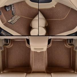 Fashion Brown Unique Edge Design All Surrounded Custom-Made Car Carpet