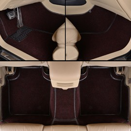 Super Matched Interior Solid Attractive Design PVC Leather Mixed Velvet Custom-Fit Car Carpet