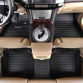 Classic Black Waterproof Easy Clean High-Grade PVC Leather Dedicated Car Carpet