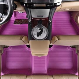Purple Anti-Dust And Waterproof Durable PVC Leather Material Custom-Made Car Carpet
