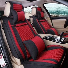 New Fashion Easy Breathable Flax And Cool Ice Silk Material Universal Car Seat Cover