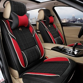 Popular Durable PU Leather And Ice Silk Material Universal Car Seat Cover