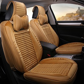 Fashion Unique Weaving Craft With Flax Velvet Material Mixed Universal Car Seat Cover