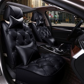 Super Fashion Diamond Pattern Design PVC Leatherette Material Universal Car Seat Cover