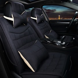 New Cost-Effective Easy Breathable And Clean Flax Universal Car Seat Cover